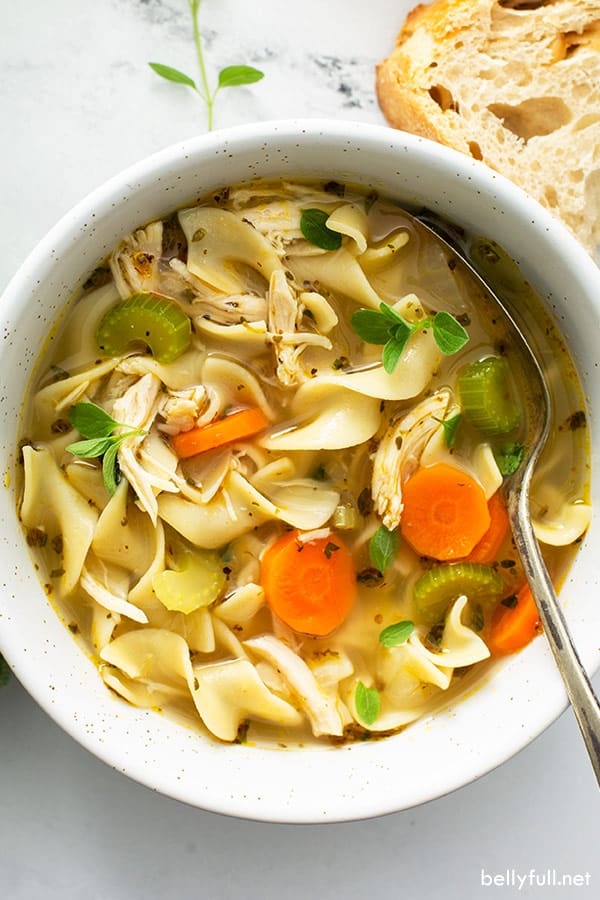 The 40 BEST Soup Recipes - chicken noodle.
