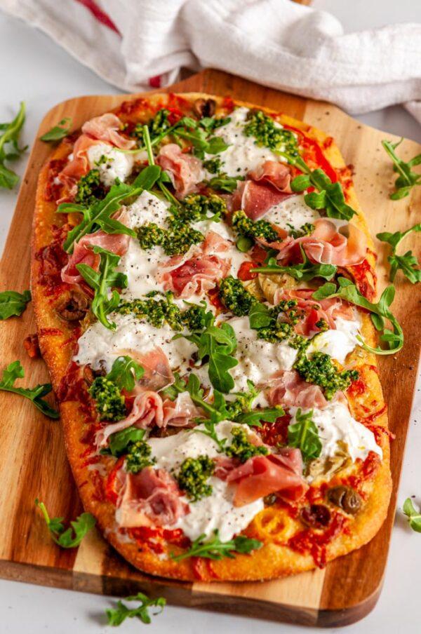 The 30 BEST Flatbread Recipes - Mediterranean prosciutto.