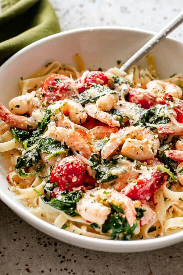 The 30 BEST Quick Dinners - shrimp fettuccini.
