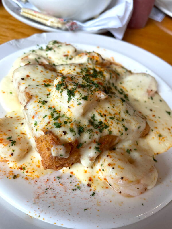 """""""Carolina Delight"""", the signature dish from Hymans seafood restaurant."""