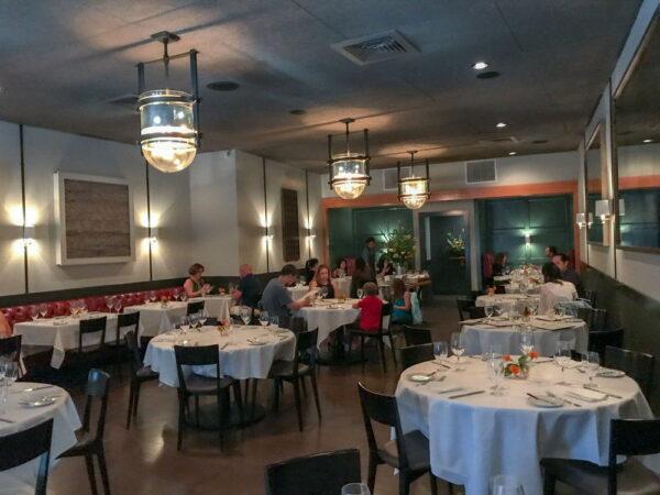 The interior of FIG restaurant in Charleston.