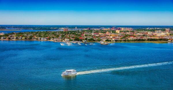 A boat in Charleston harbor.