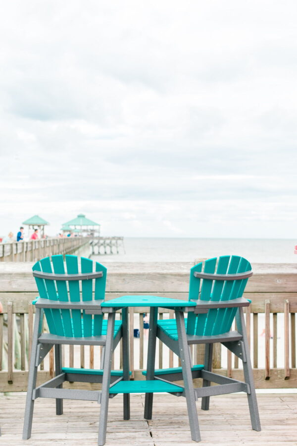 The pier at Folly Beach.