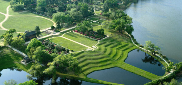 Aerial shot of Middleton place.