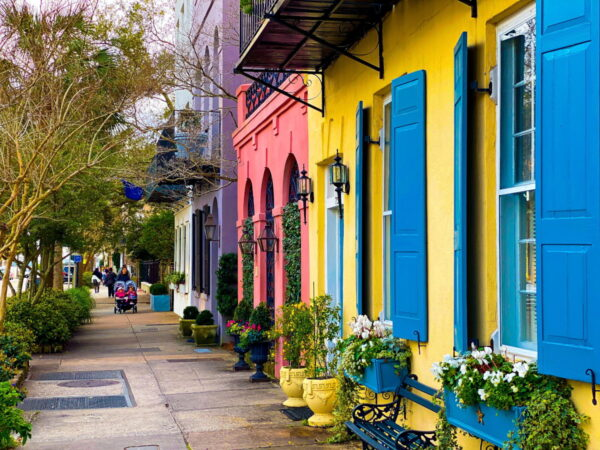 Some historic houses in Charleston.