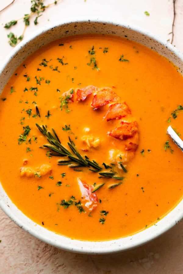 The 40 BEST Soup Recipes - lobster bisque.