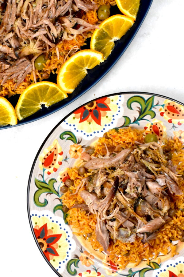 A serving of pernil on the Gypsy Plate.
