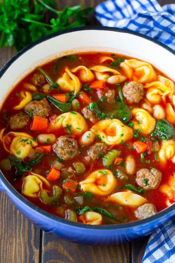 The 30 BEST Quick Dinners - tortellini soup.