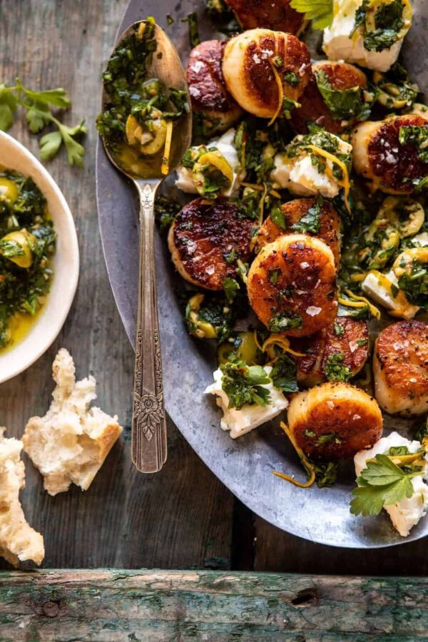The 25 BEST Scallop Recipes - herbed garlic butter.