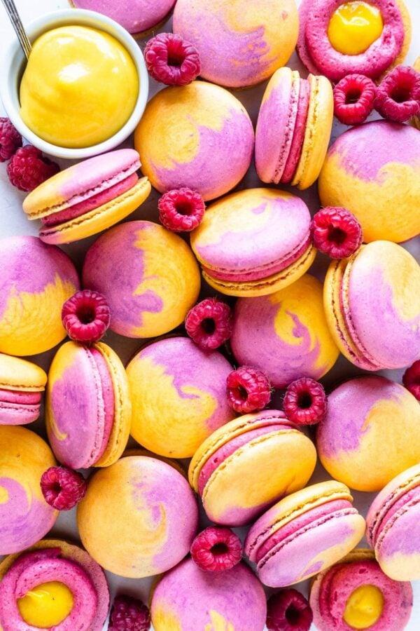 The 25 BEST Macaron Recipes - mango raspberry.