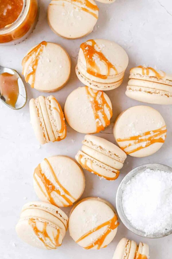 The 25 BEST Macaron Recipes - salted caramel.