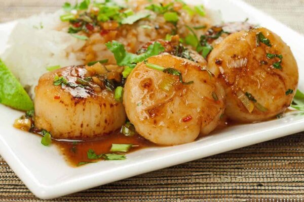The 25 BEST Scallop Recipes - Thai sweet chili.